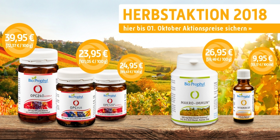 BioProphyl Herbstaktion 2018